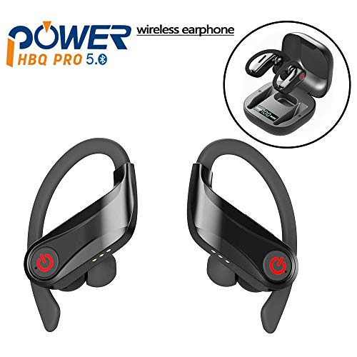 UROPA HERO Auricolari Bluetooth 5.0, Cuffie Bluetooth Auricolari Wireless Stereo Senza Fili Sportivi in Ear con Custodia da Ricarica Microfono per iPhone iPad Samsung Huaw