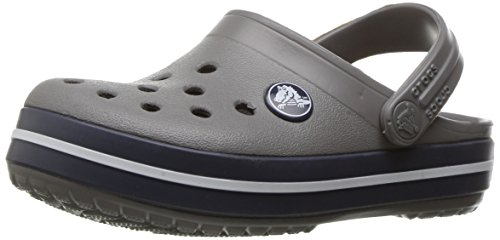 crocs Crocband Clog Kids, Unisex-Kinder Clogs, Grau (Smoke/Navy), 23/24