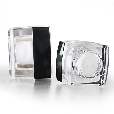UOOOM 4 * 5g Acrylique Vide Pots de Crème Portable Boîtes de Rangement Cosmétique Echantillon Conteneurs
