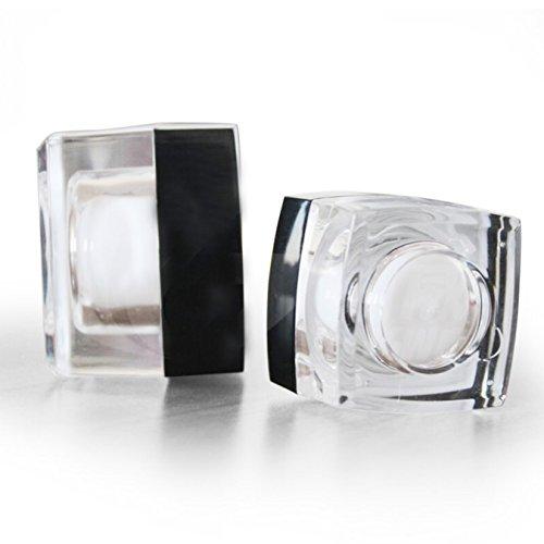 uooom 4PCS 5g Acryl nachfüllbar Leere Kosmetik Face Creme Flasche Fall Make-Up Behälter Spender (Behälter Gesicht Creme Reisen)