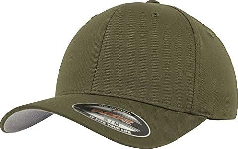 Flexfit Erwachsene Mütze Wooly Combed, grün (olive green), S/M