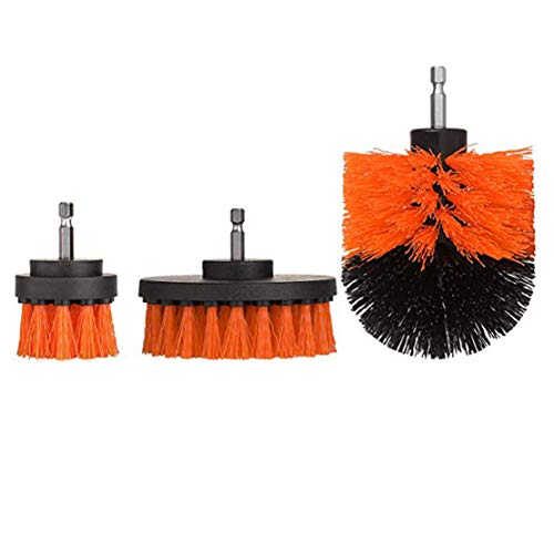happy event 3Pcs Mörtel Power Scrubber Reinigungsbürste Wannenreiniger Combo Tool Kit (Orange)