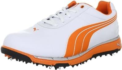 Puma FAAS Trac 185911, Herren Sportschuhe - Golf, Weiss (white-vibrant orange 3), EU 44.5 (UK 10) (US 11)