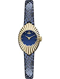Vivienne Westwood Women's Quartz Watch with Blue Dial Analogue Display and Blue Leather Strap VV096NVNV