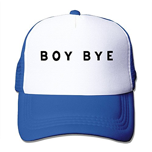 Hittings Boy Bye Fashion Baseball Caps Royalblue