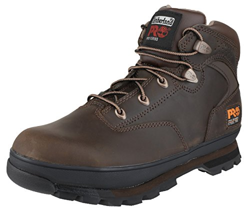 Timberland Mens Euro Hiker Brown Lace Up Leather Safety Ankle Boot Brown Oiled