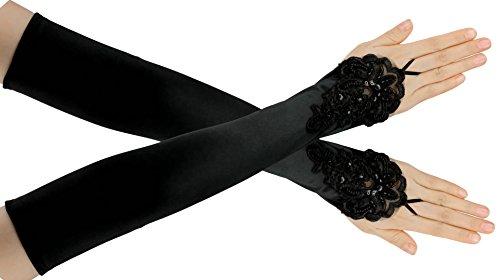 tin Handschuhe Vintage Gatsby Flapper Zubehör 22 Zoll Opern Ellenbogen Handschuhe (Vintage-stil-halloween-kostüme)