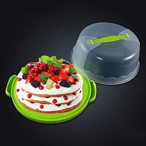 Tragbare Runde Kuchen Gebäck Tortenschachtel Konditorei Kunststoffbox Grüne Kuchen Gebäck Box, Weiß - Tortenschachteln Fresh Tortenglocke