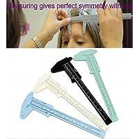 AMOYER 4X plástico Pinzas para Maquillaje Permanente de la ceja del Tatuaje línea de los Labios (Color al Azar)