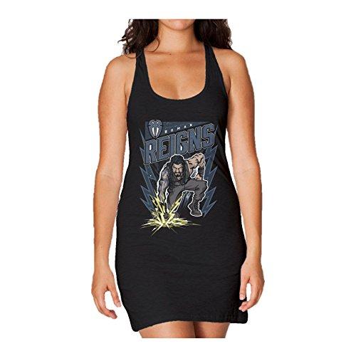 WWE Roman Reigns Comic Splash Official Women's Long Tank Dress (Black)