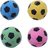 UEETEK 4 Unids Diámetro 4.5 CM Pelota de juguete Gato Esponja EVA Fútbol  Balones de Futbol c6bfcf7bfd5