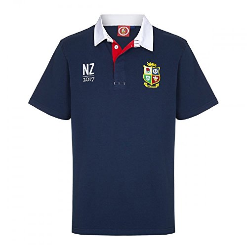 415 keIF5TL - OFFICIAL BRITISH & IRISH LIONS TOUR SUPPORTERS NZ 2017 NAVY SHORT SLEEVE RUGBY SHIRT (3XL) sports best price Review uk