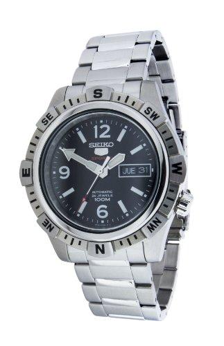 Seiko Herren-Armbanduhr XL Analog Automatik Edelstahl SRP143K1