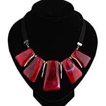 6e48244c9dcb Nikgic Multicolor 42   5 cm Resina Vintage geométrica collar