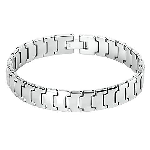 Bishiling Schmuck Armband Edelstahl Herren Religiös Panzerkette Gothic Armreifen Charm Armbänder Silber Länge 21CM