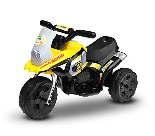 Motocross électrique LT853 pour enfant Pocket monoplace 6V à 3 roues - Jaune