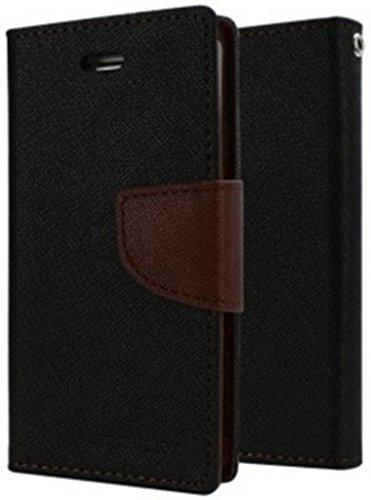 RJR Mercury Goospery Wallet Style Flip Back Case Cover For Micromax YU Yureka- Black&Brown