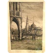 Paire de Vitrage Prints Affiche Venise N Francis signé Jackson