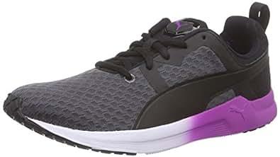 Puma Pulse XT Core Wns, Donna Scarpe Fitness, Periscope/Black/White/Purple Cactus Flower, 41 EU