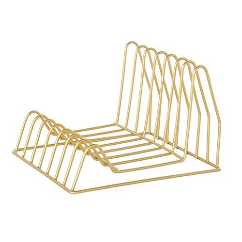 Dateihalter Aktenhalter Büro Schwarz Datei Bar Lagerregal Tisch Metall Student Geometrie Ordner Aufbewahrungsbox Bücherregal Rack (Farbe : Gold) (Datei-ordner Schwarz Und Gold)