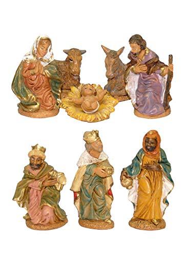 Nativita' statuine personaggi del presepe natale 8 pz. 10 cm euromarchi