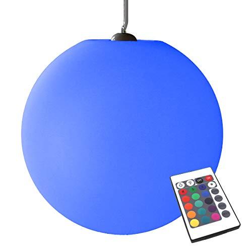 PK Green Lámpara Colgante Colores Regulable, Esfera LED 40cm