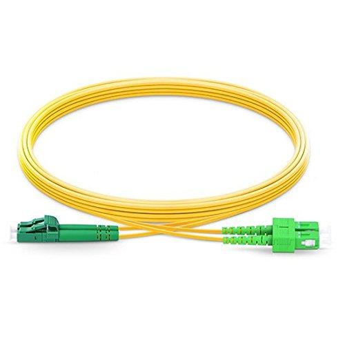 Sc Duplex-single (LWL-Kabel LC/APC auf SC/APC Single Mode Duplex 2,0 mm / 3,0 mm Außendurchmesser 9/125 Glasfaser-Patchkabel 20m 2.0mm)