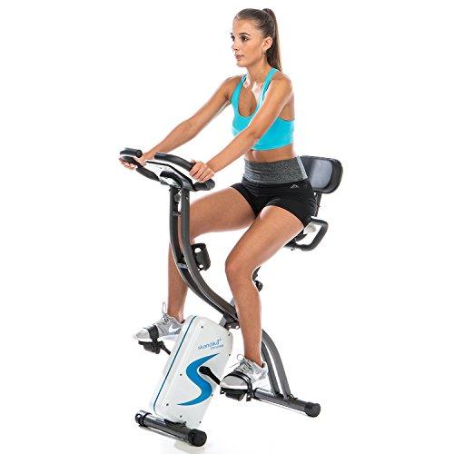 skandika Foldaway X-2000 Fitnessbike zusammenklappbar mit Bluetooth, Tablet Halterung, Rückenlehne, Multifunktionscomputer, Handpulssensoren und 16-stufiger, computergesteuerter Widerstand - 2