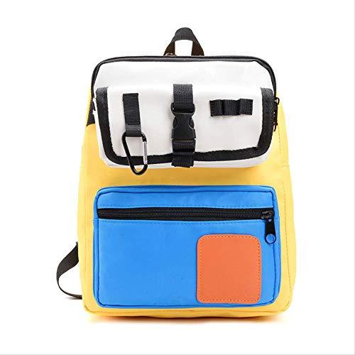 Kindertasche, Schultertasche Einfache Kontrast Farbe Kleine Rucksack Jungen Und Mädchen Student Tasche Hohe Kapazität, Kind Dekompression gelb -