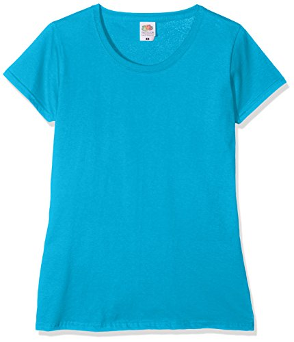 Fruit of the Loom Damen T-Shirt Blue (Azure Blue ZU)