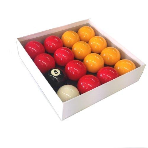 Aramith Billard-Kugeln, Rote und Gelbe Kugeln 50,8mm, Spielball 47,6mm -