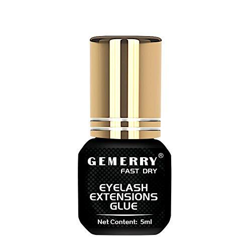5ml GEMERRY Wimpernkleber für Wimpernverlängerung 1-2 Sek. Trocknungszeit Farbe Schwarz Eyelash Extension Glue (glue-5ml)