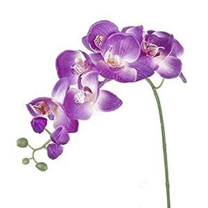 LEORX Artificiale fiore farfalla orchidea fiore pianta Home Decoration (viola)