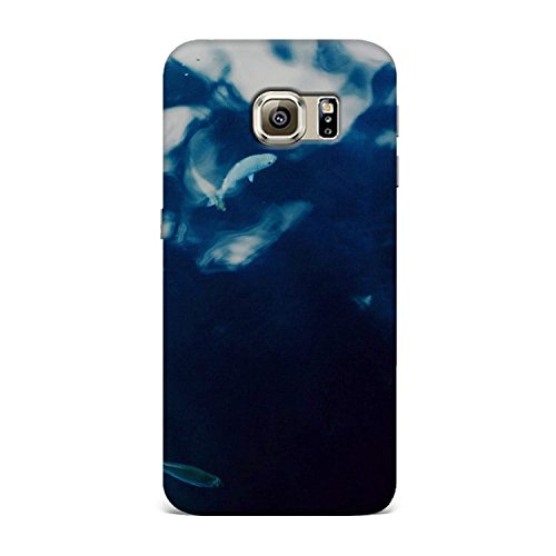 Samsung S6 Case, Samsung S6 Hard Protective SLIM Printed Cover [Shock Resistant Hard Back Cover Case] for Samsung S6 - Water Lake Fish Nature Indigo Blue  available at amazon for Rs.299