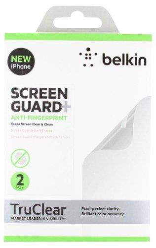 Belkin Screen Overlay Displayschutzfolie (Anti Finger Print, geeignet für iPhone 5/5s/5c, 2er-Pack) transparent -