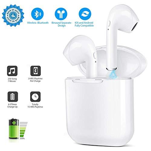 Bluetooth-Headset, drahtloses Headset, Stereo-In-Ear-Stereo-HiFi-Kopfhörer mit Rauschunterdrückung, tragbare Ladebox, kompatibel mit Allen Mikrofonen von Smart-Geräten -