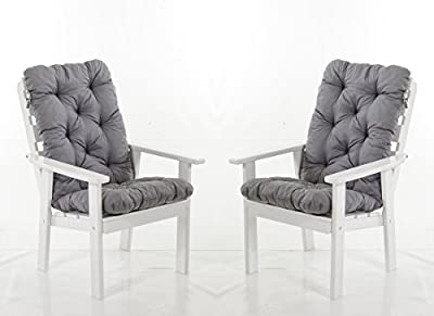 Ambientehome 2er Set Hochlehner Auflage Kissen Hanko Maxi, ca 120 x 50 x 8 cm, Rückenteil ca 70 cm, Polsterauflage