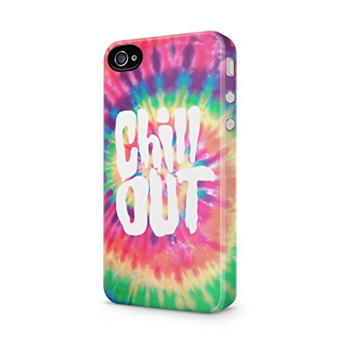 Fall 4 Boho Iphone (Chill Out Tie Dye Apple iPhone 4 / iPhone 4S SnapOn Hard Plastic Phone Protective Fall Handyhülle Case Cover)