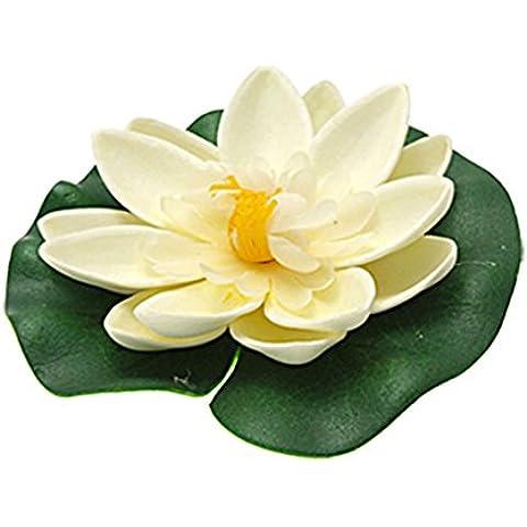 Aquarium Decor-galleggiante in schiuma, a forma di fiore di loto