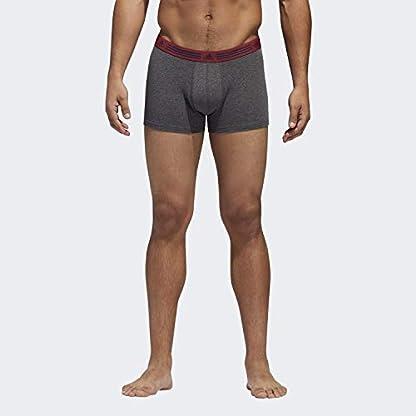 adidas Ropa Interior atlética de algodón elastizado para Hombre (Paquete de 2)