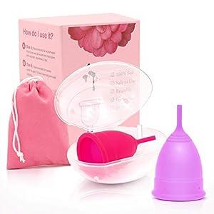 Menstruationstassen mit 2 Stück One-stage Period Cup aus medizinischem Silikon