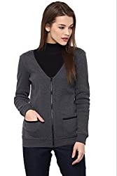 The Vanca Jacket in knit rib with contrast edging and front zipper opening