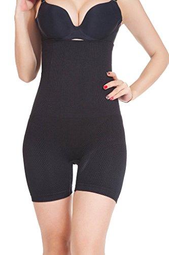 Firma Control Hi-taille Kurz (DODOING Damen Miederhose Bauch Weg Miederslip Hi Waist Thigh Slimmer Tummy Firm Control Shapewear Panties)