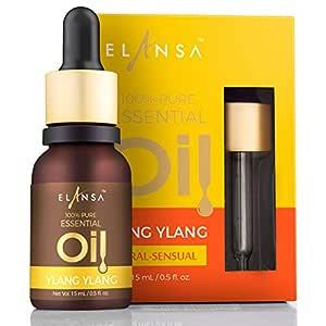 Elansa 100% Pure Ylang Ylang Essential Oil, 15ml