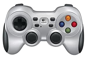 Logitech Wireless Gamepad F710 Manette de jeu sans-fil Moteurs doubles à retour de vibrations Croix multidirectionnelle flottante Gris