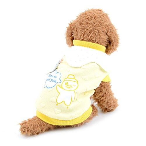 tore Vogel Pitbull Print Pet Fleece gefüttert Shirt Warm Hund Bekleidung Hund Katze Mädchen T-Shirts Chihuahua Sweatshirt Stylisch kaltem Wetter Weste (Hund Hawaiian Shirt)