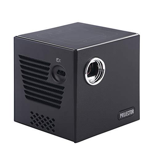 jfhrfged Mini 1G + 8G HD Projektor Portable Home LED Projektor Wireless Screen Projektor EU