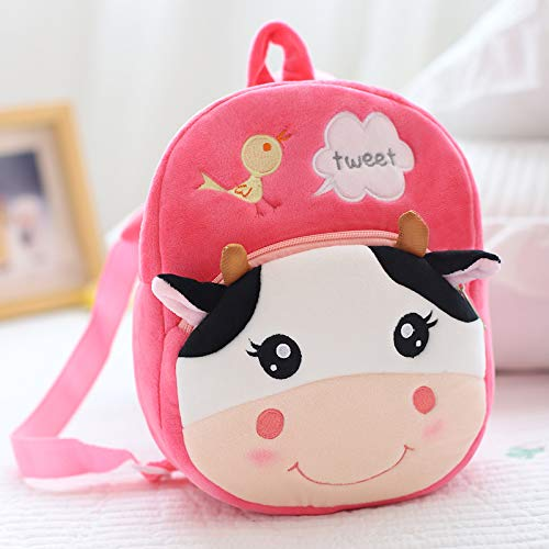 DONGER Süße Kindergarten Schultasche 1-3-5 Jahre Altes Kind Rucksack Mädchen Mädchen Rucksack, Kuh - Alt Fünf Jahr Für Puppen