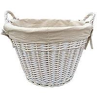 White Wash Wash-Cesto per biancheria, con rivestimento interno, colore: Crema