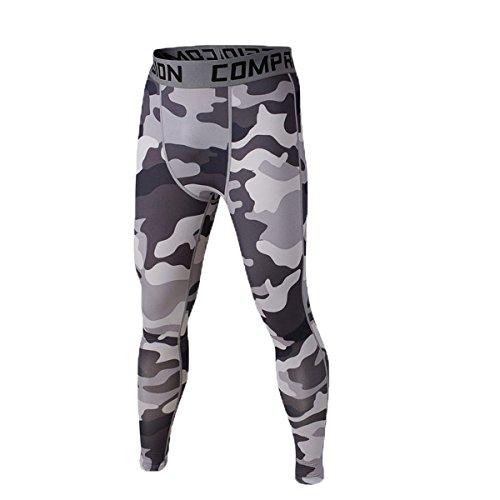 UNIQUEBELLA Herren-Leggins-Leggings-Treggings-Stretchhose-Hose-Sport-Camouflage-